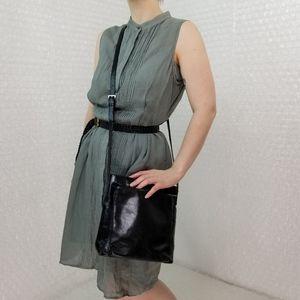 HOBO International black leather crossbody bag